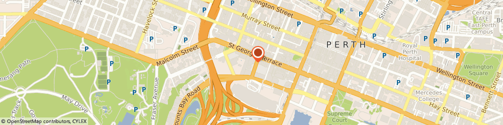 Route/map/directions to Perth Tow Trucks, 6000 Perth, Level 14, 197 St Georges Terrace