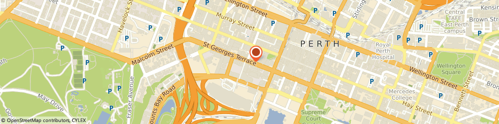 Route/map/directions to Nursewest, 6000 Perth, 11/81 St Georges Terrace