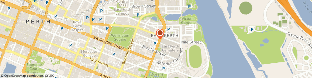 Route/map/directions to Armstrong Matcham Hughes & Ross, 6004 East Perth, 17 Wittenoom Street