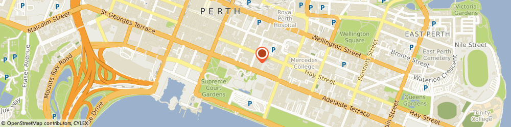 Route/map/directions to Hydrant on Hay Bar and Cafe - Mercure Hotel Perth, 6000 Perth, 10 Irwin Street