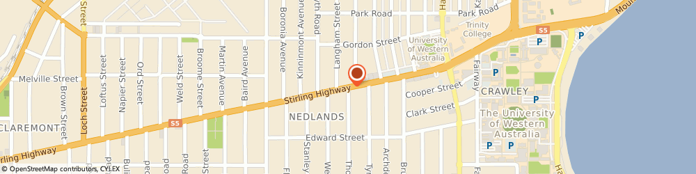 Route/map/directions to SKYN, 6009 Nedlands, 1/187 Stirling Hwy