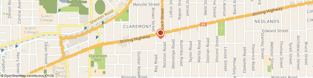 Route/map/directions to Jeremy Hunter Sports Physiotherapist, 6010 Claremont, 1 BAY RD