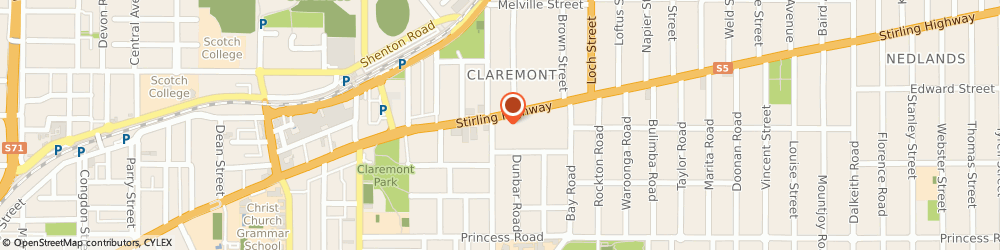 Route/map/directions to Bare Motion Integrated Health, 6010 Claremont, 238 Stirling Highway