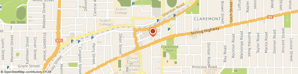 Route/map/directions to Helloworld Travel Claremont Quarter, 6010 Claremont, St Quentin's Avenue