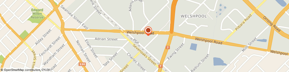 Route/map/directions to Alanco Automotive Products, 6106 Welshpool, 83-85 Welshpool Rd