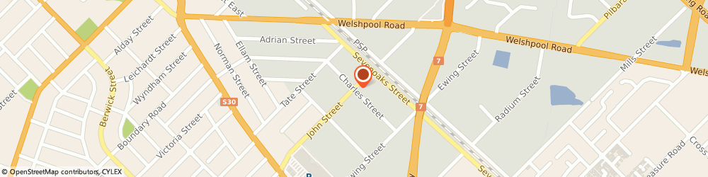 Route/map/directions to Perth Academy Of Natural Therapies, 6102 Bentley, Cnr Charles & John Sts