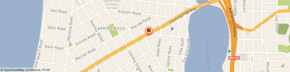 Route/map/directions to Applecross Chiropractic Centre, 6153 Applecross, 871 Canning Highway