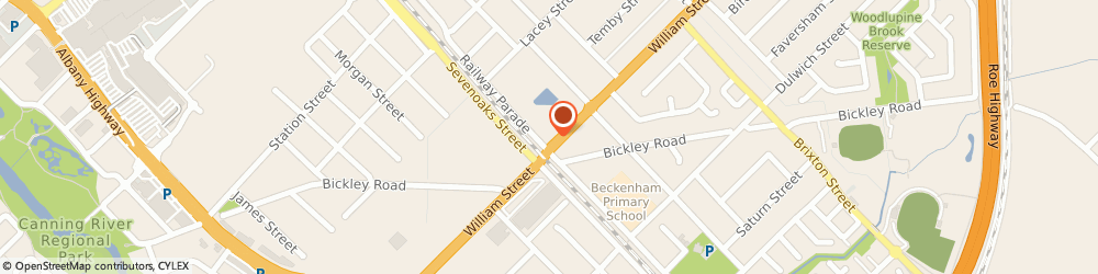 Route/map/directions to Caltex, 6107 Beckenham, 63 Williams Street