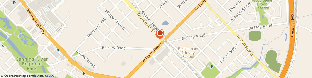 Route/map/directions to Vic's Glass, 6107 Cannington, 399 Sevenoaks Street