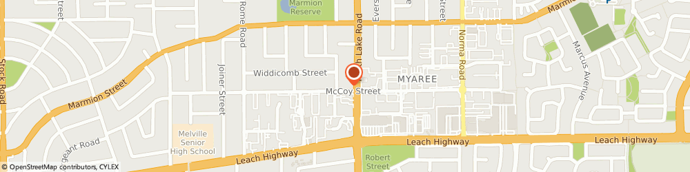 Route/map/directions to Tennis Only, 6154 Myaree, 52 Mccoy Street