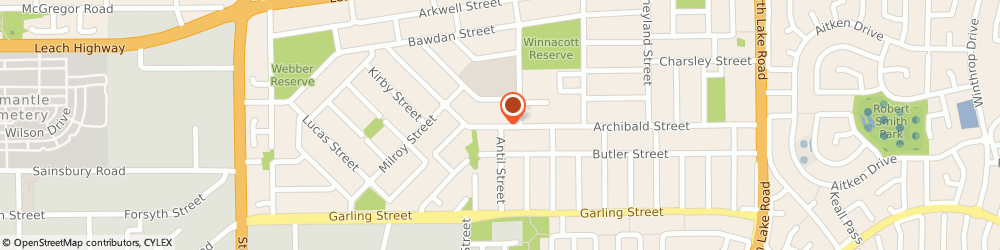 Route/map/directions to Karma Holistic Health, 6156 Willagee, 34A Archibald Street