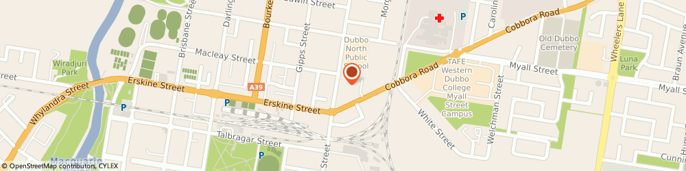 Route/map/directions to TLE Dubbo, 2830 Dubbo, 166 Fitzroy Street