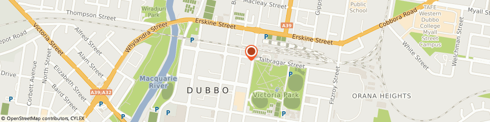 Route/map/directions to Whitney's Jewellers, 2830 Dubbo, 149 Talbragar Street