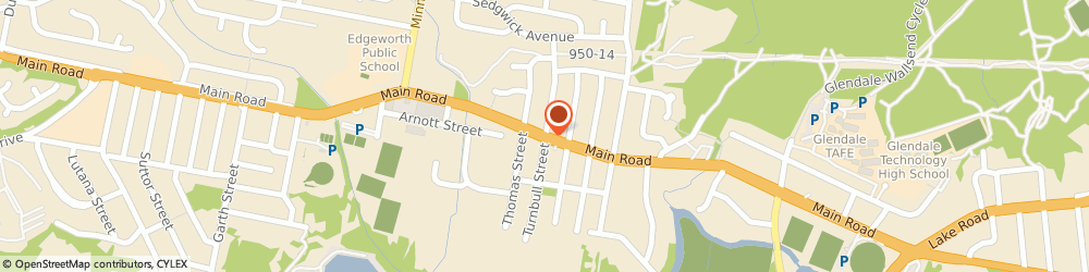 Route/map/directions to Caltex, 2285 Edgeworth, 662 Main Rd Cnr Turnbull St