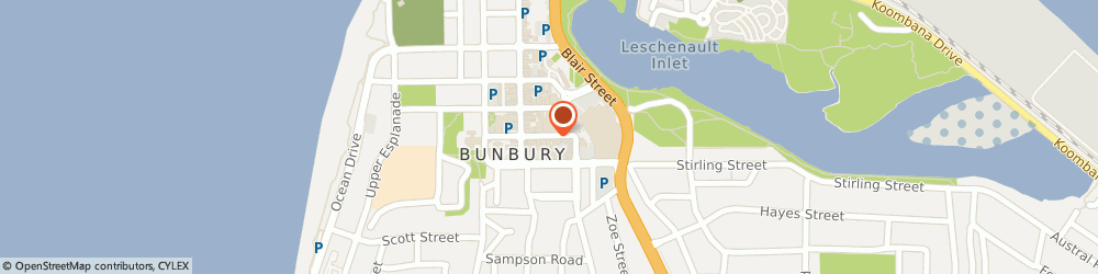 Route/map/directions to The Wardrobe, 6230 Bunbury, 39 STEPHEN ST