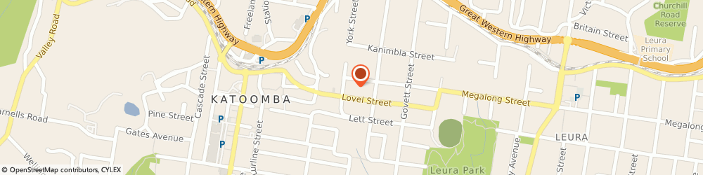 Route/map/directions to Tunks Landscape Supplies, 2780 Katoomba, 23 Megalong Street