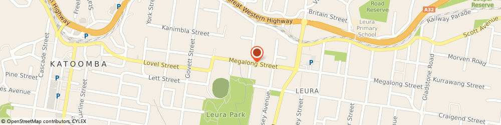 Route/map/directions to The Stray Whisker, 2780 Leura, 1/59 Megalong St