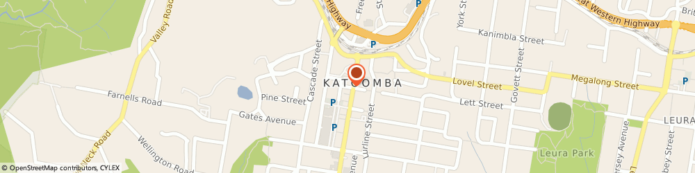 Route/map/directions to Camera House, 2780 Katoomba, 69 Katoomba Street