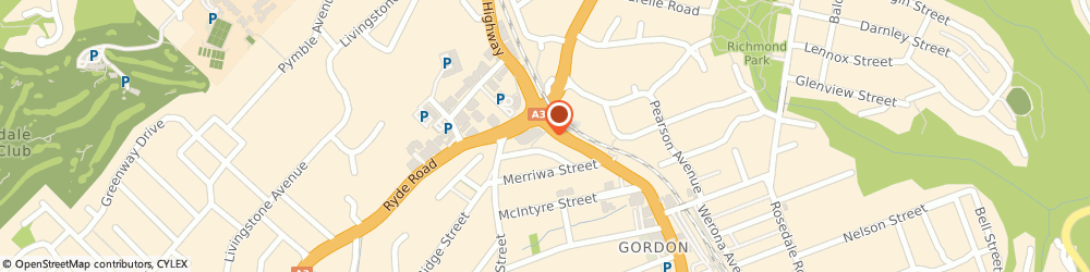 Route/map/directions to Pymble Grove Health Centre, 2072 Gordon, Suite 11, 924 Pacific Highway