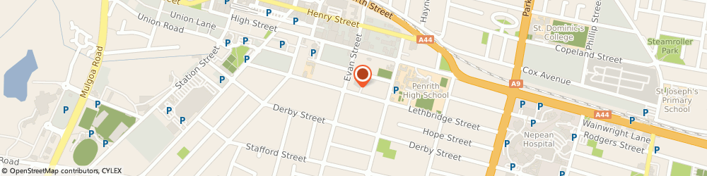 Route/map/directions to Nepean Physiotherapy Centre, 2750 Penrith, 95 Lethbridge St