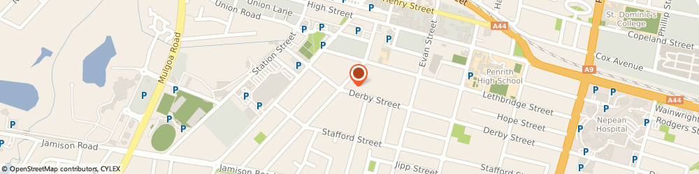 Route/map/directions to Dr Mary Anne Lowery - Chiropractor, 2750 Penrith, 44 Castlereagh Street
