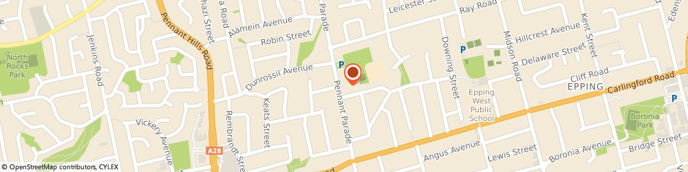 Route/map/directions to Roof Repairs Sydney - A&A Aabacus Roofing, 2121 Epping, 67 Pennant Parade