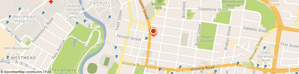 Route/map/directions to El-Phoenician Lebanese Restaurant, 2150 Parramatta, 328 Church St