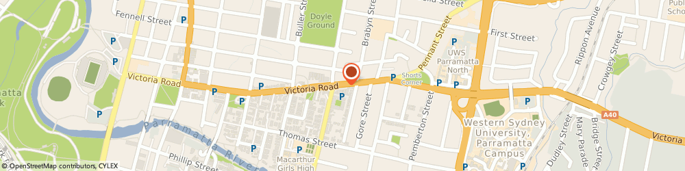 Route/map/directions to Wideline Windows and Doors, 2150 Parramatta, 89 Victoria Road
