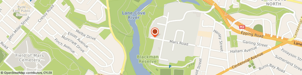 Route/map/directions to Mcintosh Solar, 2066 Lane Cove West, 211/27 Mars Road