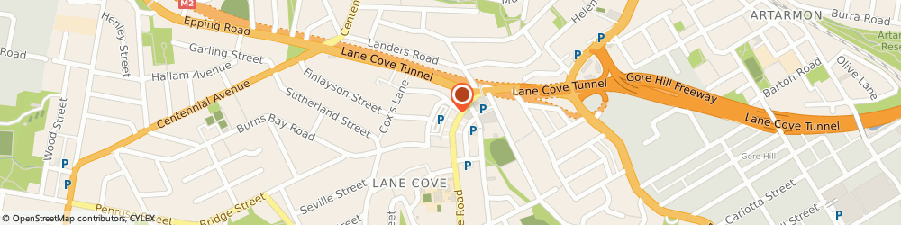 Route/map/directions to Brandt-Sarif Janet Physiotherapy & Sports Injury Clinic, 2066 Lane Cove, 83/79 Longueville Rd