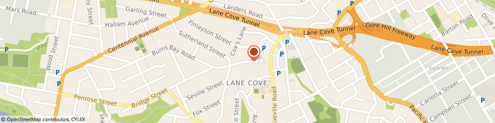 Route/map/directions to Dr Mark Uren - Chiropractor, 2066 Lane Cove, UNIT 1, 46 BURNS BAY ROAD