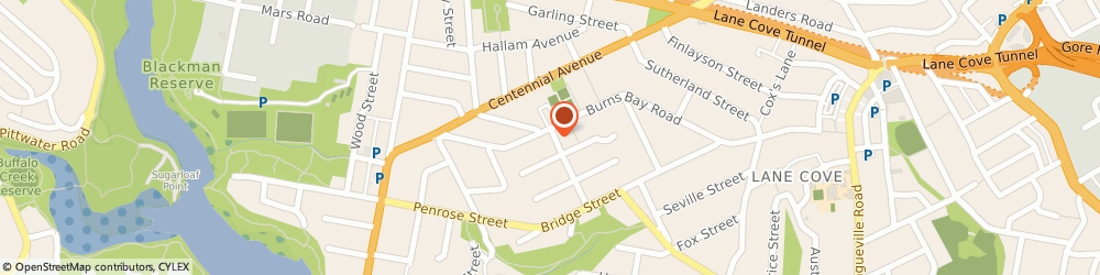 Route/map/directions to Lane Cove Wellness Centre & Wade's Pharmacy, 2066 Lane Cove, 152 Burns Bay Road