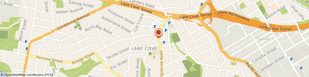 Route/map/directions to Healthspace, 2066 Lane Cove, 20 Burns Bay Rd