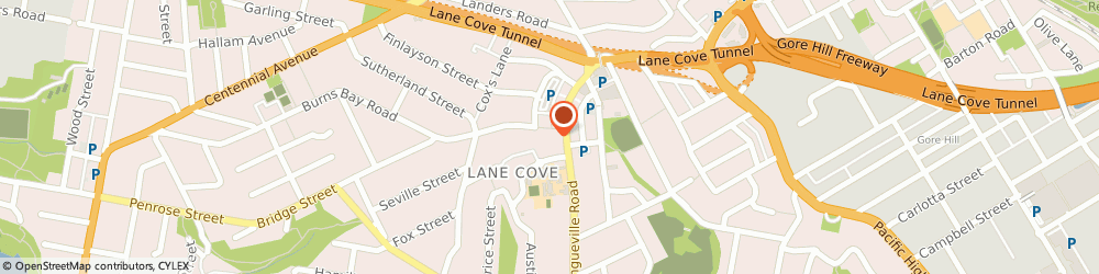 Route/map/directions to Dr Nicholas Miller, 2066 Lane Cove, SUITE 1, 20 BURNS BAY RD