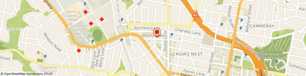 Route/map/directions to Chiropaedic, 2065 St Leonards, SHOP 3, 38- 46 ALBANY ST