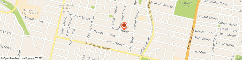 Route/map/directions to Hunter Waterproofing Specialists, 2160 Merrylands, 72 Myall Street