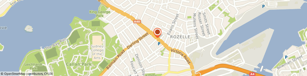 Route/map/directions to Balmain Golf, 2039 Rozelle, 116 Victoria Road