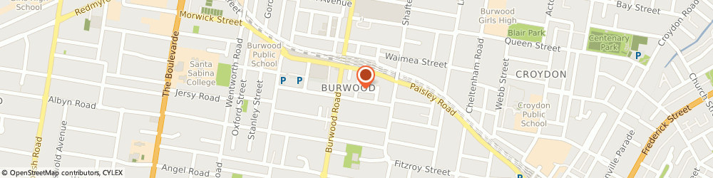 Route/map/directions to Universal Lawyers, 2134 Burwood, 24 Burleigh St