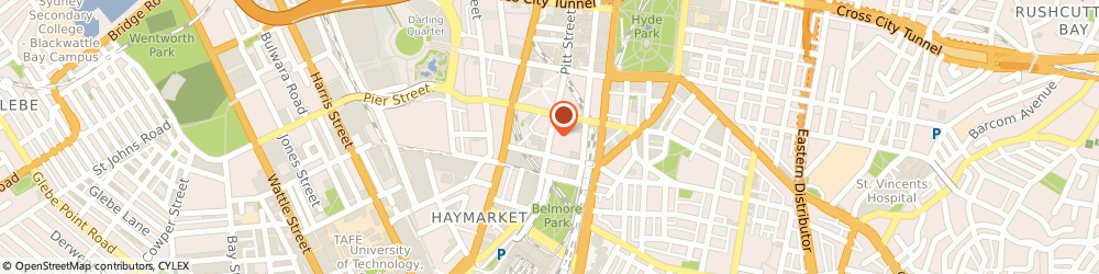 Route/map/directions to Sydney Chiropractic & Massage, 2000 Sydney, 9/60 Pitt St