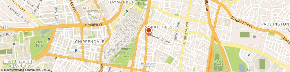 Route/map/directions to Body Balance Wellness Centre, 2010 Surry Hills, 425 Elizabeth St
