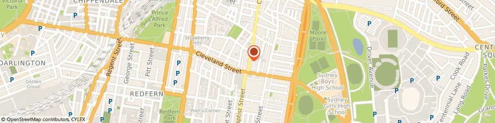 Route/map/directions to Sydney City Chiropractic, 2010 Surry Hills, 563 Crown St