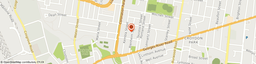 Route/map/directions to DNA Window Furnishings, 2133 Croydon Park, 31 Tangarra Street