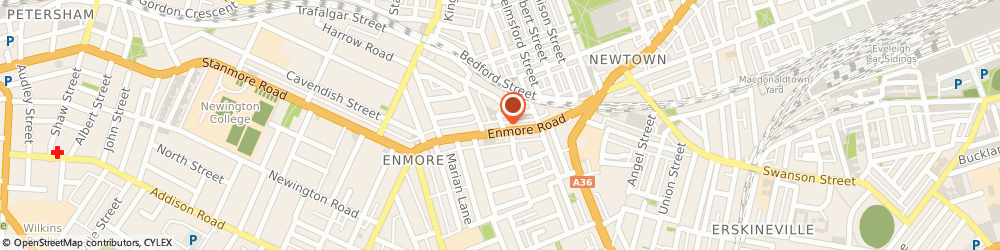 Route/map/directions to Domino's Pizza NEWTOWN, 2042 Newtown, 83 Enmore Road