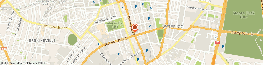 Route/map/directions to Katies - Alexandria, 2015 Alexandria, 204-218 Botany Road