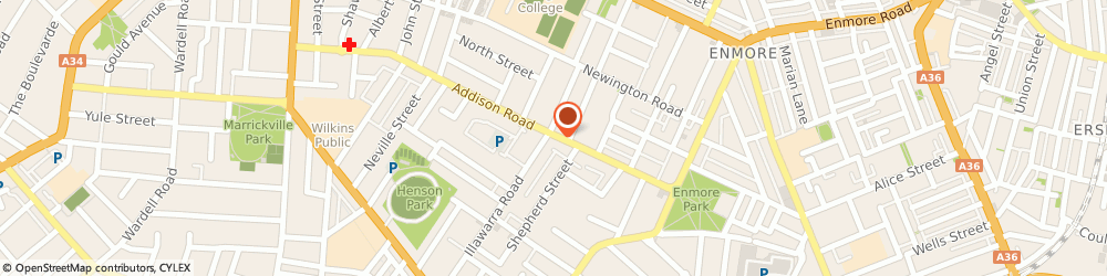 Route/map/directions to Carlovers Carwash Limited, 2204 Marrickville, 110-120 Addison Rd