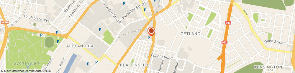 Route/map/directions to Coates Hire Alexandria, 2015 Alexandria, 340 Botany Rd