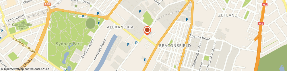 Route/map/directions to Rexel, 2015 Alexandria, 196 Bourke Road