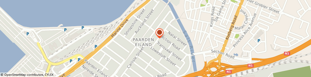 Route/map/directions to Marine Electrical Supplies (Pty) Ltd, 7405 Cape Town, 25 CALCUTTA STREET PAARDEN EILAND
