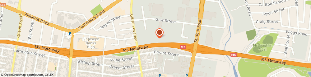Route/map/directions to Hurlstone Park Glass, 2211 Padstow, Unit 8, 78 Gibson Ave