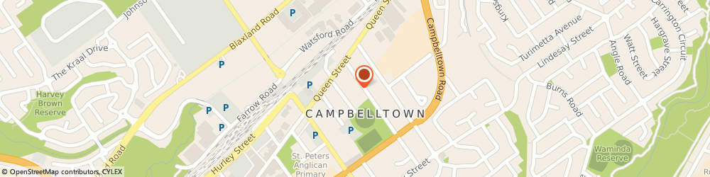 Route/map/directions to St Vincent de Paul Society (Campbelltown Nsw), 2560 Campbelltown, 13 Warby St
